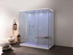 MEGIUS, WELLBOX Box doccia multifunzione in alluminio e vetro