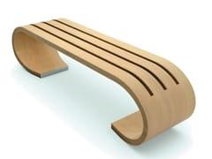 DDF, ELLA Panchina in legno lamellare curvo