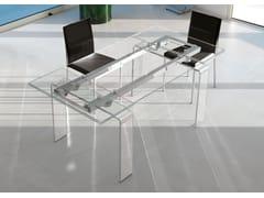 Tavolo allungabile da pranzo rettangolare in vetro design FORTUNY | Tavolo in vetro - Life Class