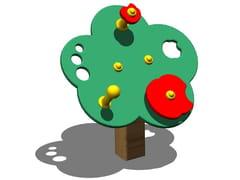 Pannello ludico in pino PRIMIPASSI - Tuttifrutti