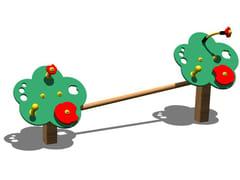 Pannello ludico in pino PRIMIPASSI DOPPIO - Tuttifrutti