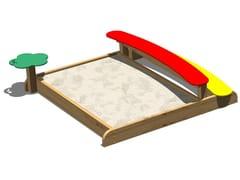 Vasca di sabbia in legno SABBIERA COCCINELLA - Tuttifrutti