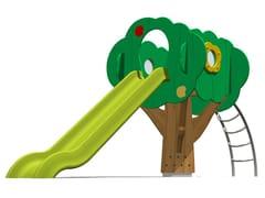 Struttura ludica / scivolo in polietilene TREE TOWER 150-3 - Trees