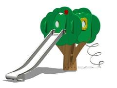 Struttura ludica / scivolo in acciaio TREE TOWER 150-4 - Trees