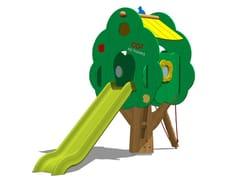 Struttura ludica / scivolo in polietilene TREE TOWER 150T-2 - Trees