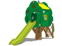 Struttura ludica / scivolo in polietilene TREE TOWER 150T-4 - Trees