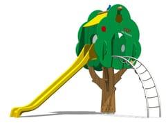 Struttura ludica / scivolo in polietilene TREE TOWER 200T-4 - Trees