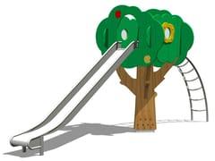 Struttura ludica / scivolo in acciaio inox TREE TOWER 200-3 - Trees