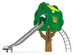 Struttura ludica / scivolo in acciaio inox TREE TOWER 200T-6 - Trees