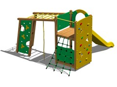 Struttura ludica in legno TORRE PUMA - Young