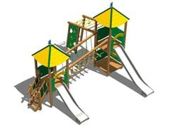 Struttura ludica in acciaio inox e legno CASTELLO BOSCO INOX - Young