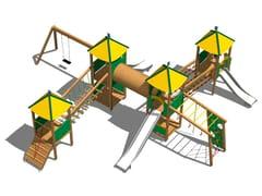 Struttura ludica in acciaio inox e legno CASTELLO SAVANA INOX - Young