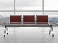 Seduta su barra in acciaio con braccioli TERMINAL | Seduta su barra con braccioli - Terminal