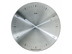Orologio in acciaio satinato da parete ORARIO | Orologio in acciaio satinato -