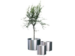 Vaso / portavaso in acciaio satinatoNOX FLORA - REXITE