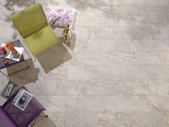 Pavimento/rivestimento per interni ed esterni PERCORSI QUARTZ WHITE - In&Out