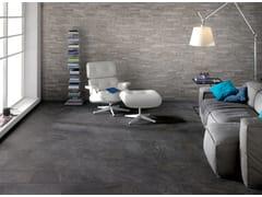 Pavimento/rivestimento per interni ed esterni PERCORSI QUARTZ BLACK - In&Out