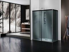 Duka, ACQUA 5000 Box doccia in cristallo con porta scorrevole
