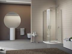Box doccia angolare in cristallo GALLERY 3000 - Vertica - con soli profili verticali