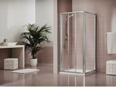 Box doccia in acrilico DUKESSA 3000 - Quadra – con profili verticali e orizzontali