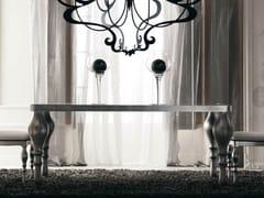 Tavolo da pranzo in vetro laccato ZOE - Zoe White