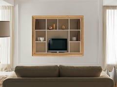 Mobile TV in legno con libreria ZOE - Zoe White