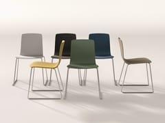 Sedia a slitta in plastica AAVA | Sedia in plastica - Aava