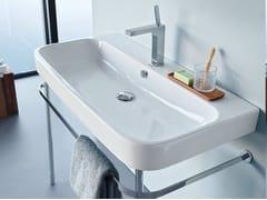 Lavabo a consolle in ceramica con troppopieno HAPPY D.2 | Lavabo a consolle - Happy D.2
