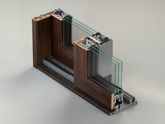 METRA, AELLE-S 190 STH Finestra a taglio termico scorrevole in alluminio e legno