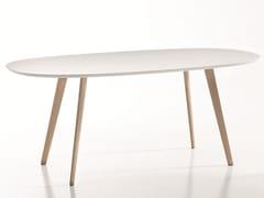 Tavolo ovale in legno design GHER | Tavolo ovale - Gher