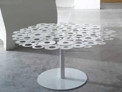 Tavolino rotondo in lamiera zincata CENTRINO | Tavolino - Forme