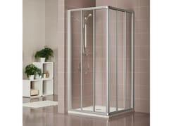 Box doccia in cristallo con porta scorrevole DUKESSA 3000 - Quadra – con profili verticali e orizzontali