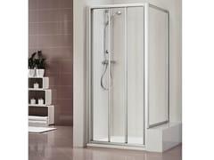 Box doccia in metacrilato con porta scorrevole DUKESSA 3000 - Quadra – con profili verticali e orizzontali