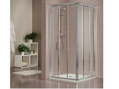 Box doccia con porta scorrevole DUKESSA 3000 - Quadra – con profili verticali e orizzontali