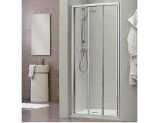 Box doccia a nicchia con porta scorrevole DUKESSA 3000 - Quadra – con profili verticali e orizzontali
