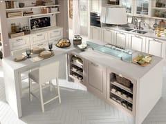 Cucina in legno con isola con maniglieLAURA | Cucina - CUCINE LUBE