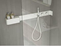 Mensola doccia con comandi in Corian® e doccino siliconicoERGO-NOMIC   Mensola doccia - REXA DESIGN