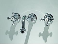 Rubinetto per lavabo a 3 fori a muro AGORÀ | Rubinetto per lavabo a muro - Agorà