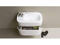 Mobile lavabo in Corian® con cassettiFONTE   Mobile lavabo - REXA DESIGN