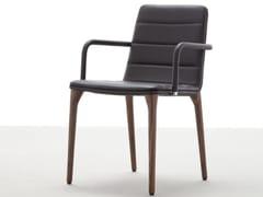 Sedia imbottita in legno con braccioli PIT 284 | Sedia con braccioli - Pit