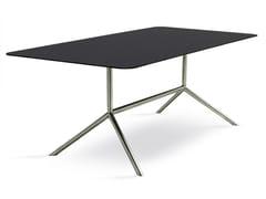Tavolo da giardino rettangolare in acciaio design SHELL DINING 200 | Tavolo rettangolare - Shell