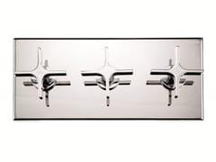 Miscelatore per doccia a 3 fori con deviatore con piastra WATERBLADE | Miscelatore per doccia a 3 fori - Waterblade