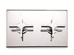 Rubinetto per doccia a 2 fori con piastra WATERBLADE | Rubinetto per doccia a 2 fori - Waterblade