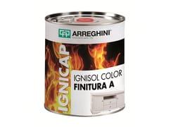 CAP ARREGHINI, IGNISOL COLOR FINITURA A+B Sistema poliuretanico per trattamento ignifugo del legno