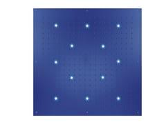 Soffione doccia a soffitto in ottone design con cromoterapia con getto fisso DREAM FLAT CUBE XL | Soffione doccia con cromoterapia - Dream