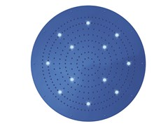 Soffione doccia a pioggia in ottone design con cromoterapia con getto fisso DREAM FLAT OKI XL | Soffione doccia con cromoterapia - Dream