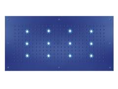 Soffione doccia a pioggia in ottone design con cromoterapia con getto fisso DREAM FLAT RECTANGULAR XL | Soffione doccia con cromoterapia - Dream