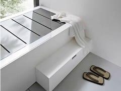Vasca da bagno rettangolare in Corian® con doccia UNICO | Vasca da bagno - Unico
