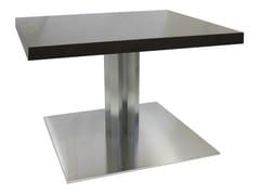 Tavolo quadrato in acciaio inox SLIM-96-4-X - Slim-Inox