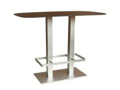 Tavolo alto rettangolare in acciaio micropallinato SPRITZ-84-2-FF-PG-X - Spritz